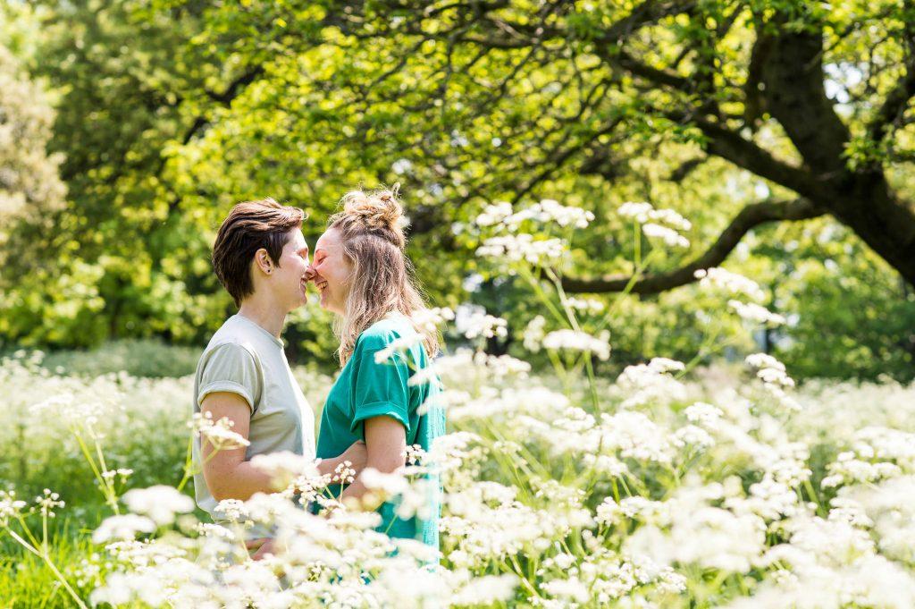 Cusworth Hall Engagement Shoot, Natural Portrait Photography. Same Sex Wedding Photography