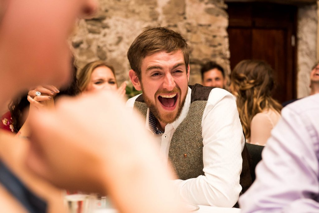 Park House Barn, Rustic Barn Wedding, Natural and Candid Speech Reactions Wedding Photography