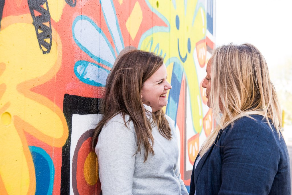 LGBT Engagement Shoot Photography, creative couples photography with London street art