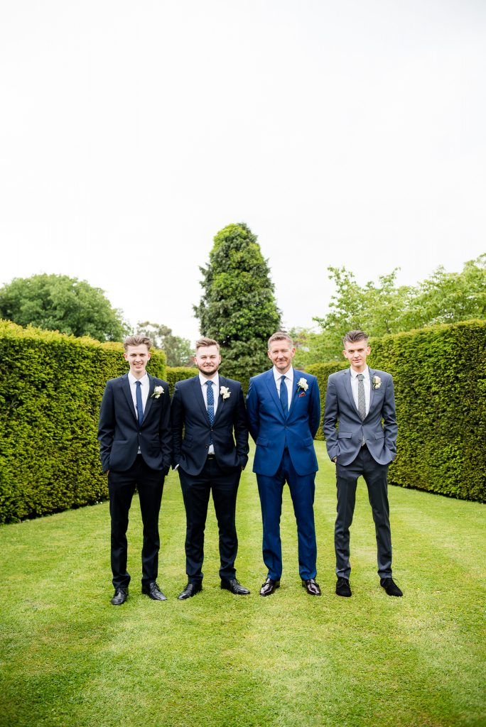 Great Fosters. Natural Wedding Photography. Natural Wedding Portrait of The Groomsmen.