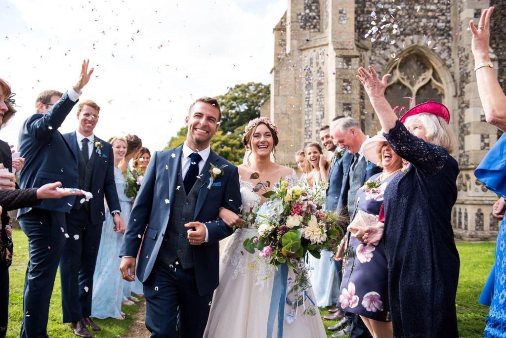 Wedding Confetti, Fun and Spontaneous Wedding Photography Surrey