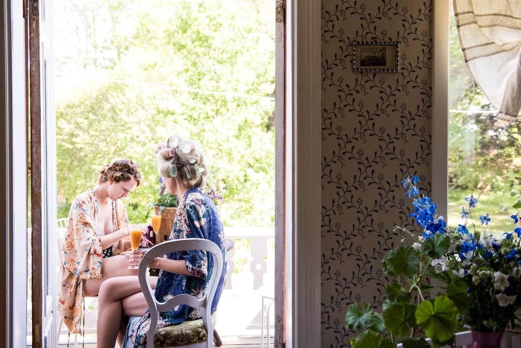 Swedish Wedding - Kroksta Gard Wedding - Natural Bridal Preparation Photography