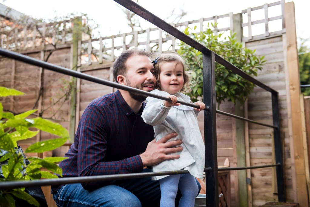 Surrey Family Photography, Natural Portrait with Father and Daughter