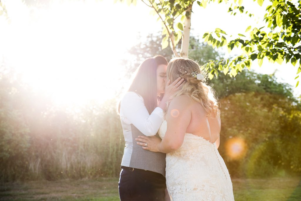 Relaxed Wedding Photography - Sunset couples Portrait - LGBT Wedding