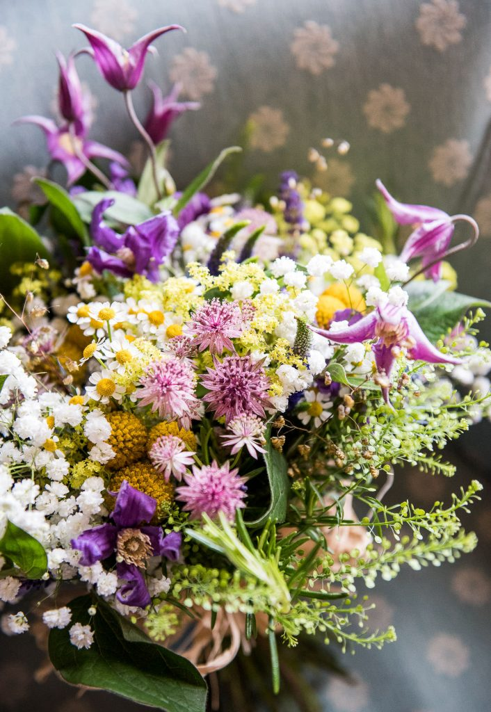 Inkersall Grange Farm Wedding - Same Sex Wedding Photography - Wedding Wild Flower Bouquet