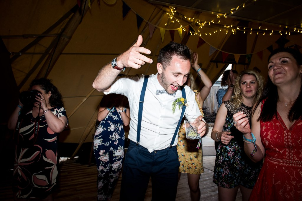 Inkersall Grange Farm Wedding - Same Sex Wedding Photography - Energetic Dance Floor Photography