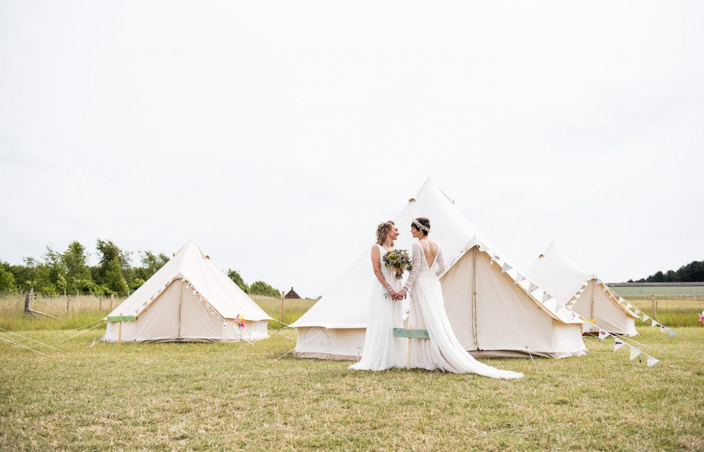Inkersall Grange Farm Wedding - Same Sex Wedding Photography - Tipi Wedding Inspiration