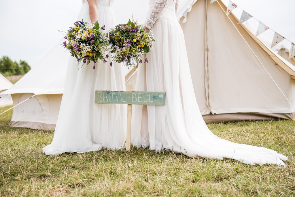 Inkersall Grange Farm Wedding - Same Sex Wedding Photography - Brides By Wedding Bell Tents Cute Composition