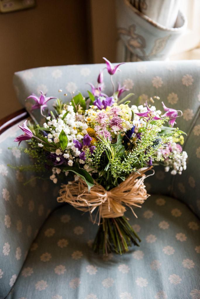 Inkersall Grange Farm Wedding - Same Sex Wedding Photography - Wild Flower Wedding Bouquet