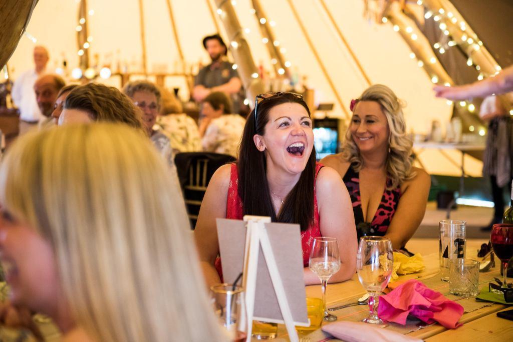 Inkersall Grange Farm Wedding - Same Sex Wedding Photography - Reactions To Wedding Speeches