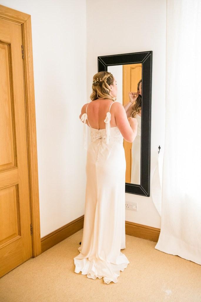 Bride in a Catherine Deane Bridal Dress