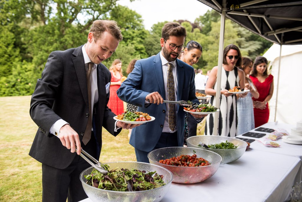 Outdoor Wedding Ceremony, Surrey Wedding Photography, Street Food Style Wedding Food