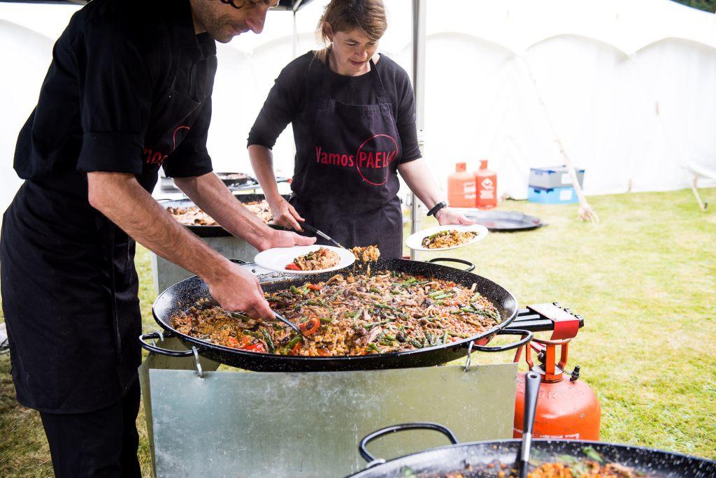 Outdoor Wedding Ceremony, Surrey Wedding Photography, Street Food Style Wedding Food