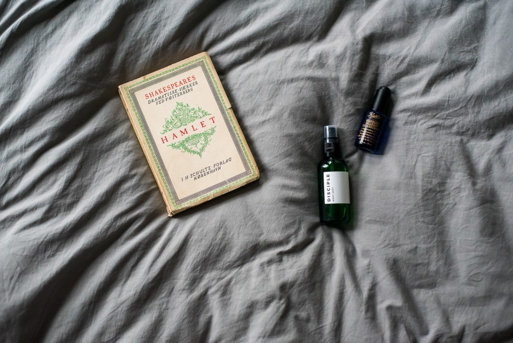 Hygge, Lifestyle Tips for a More Hygge Home, Skin Care Disciple and Khiels on Bed