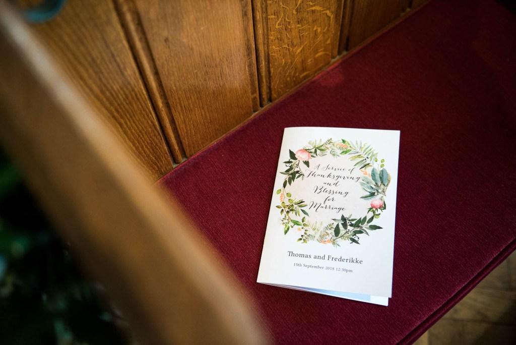 Wedding Invitation With Floral Stationary Design, Surrey Wedding Photography