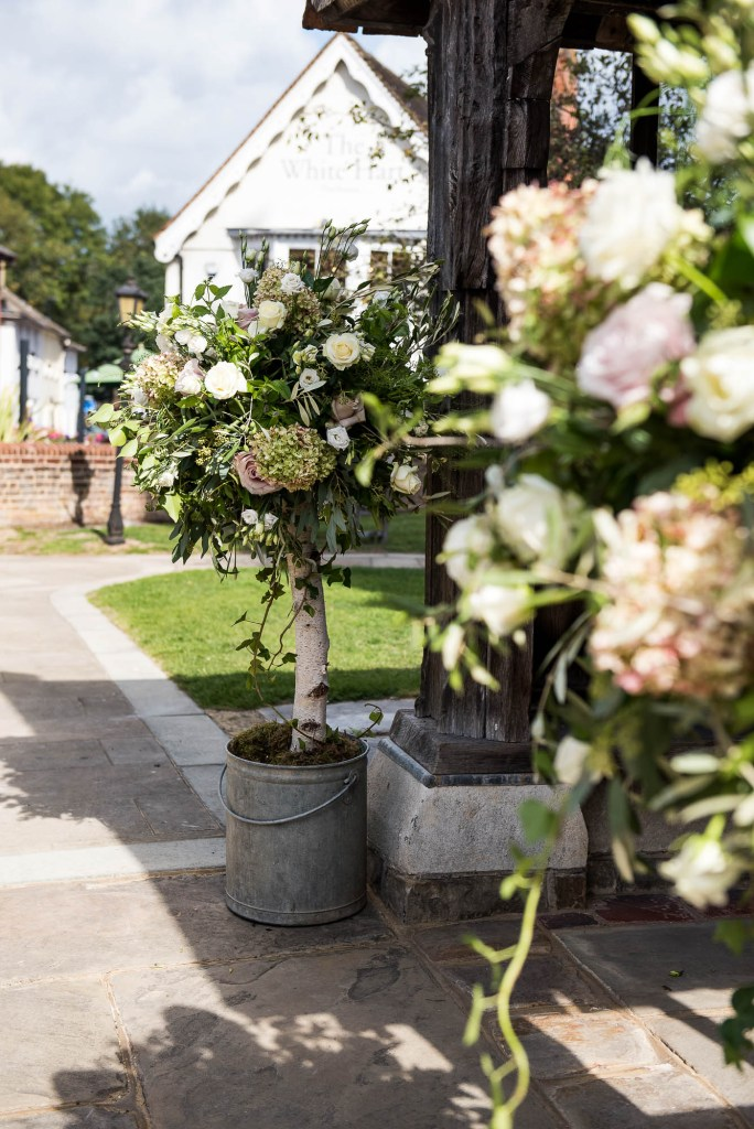 Gorgeous Trees at The Entrance of The Church, Surrey Wedding Photography