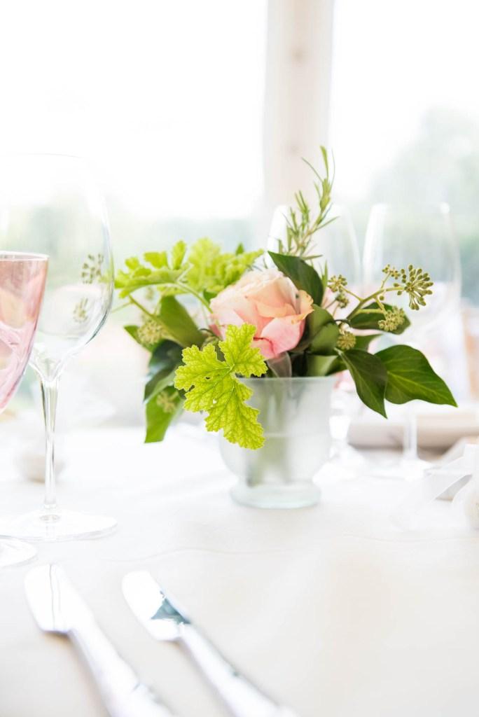 Outdoor Wedding Photography Surrey, Gorgeous White and Pink Rose Arrangement By Rosie Orr, Surrey Wedding Florist