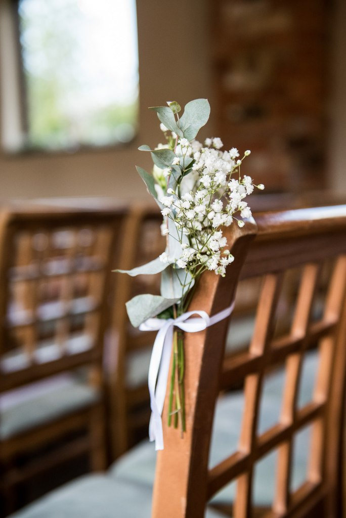 lgbt wedding photographer, Simple and chic white flower bouquet with botanical green foliage