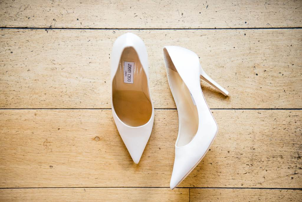 lgbt wedding photographer, Jimmy Choo shoes for elegant bride, Dodmoor House Wedding