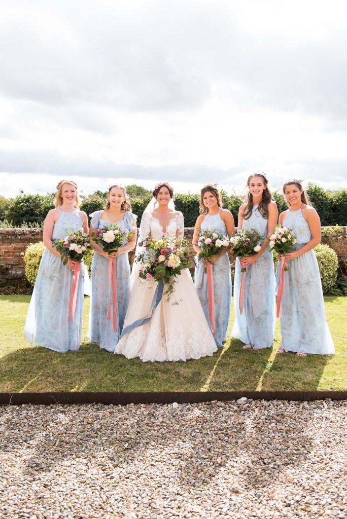 creative wedding photography surrey, creative bridesmaid group photography