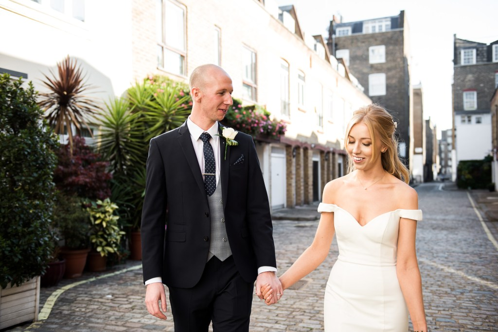 Old Marylebone Town Hall Wedding, relaxed and natural couples photography