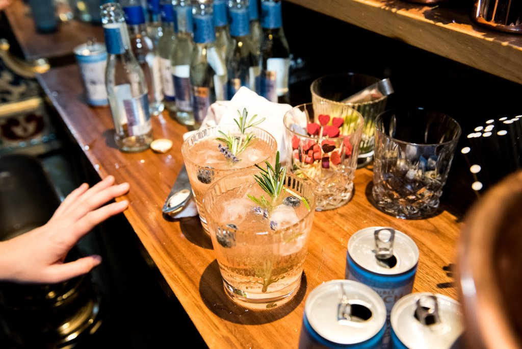 Old Marylebone Town Hall Wedding, bespoke gin cocktails