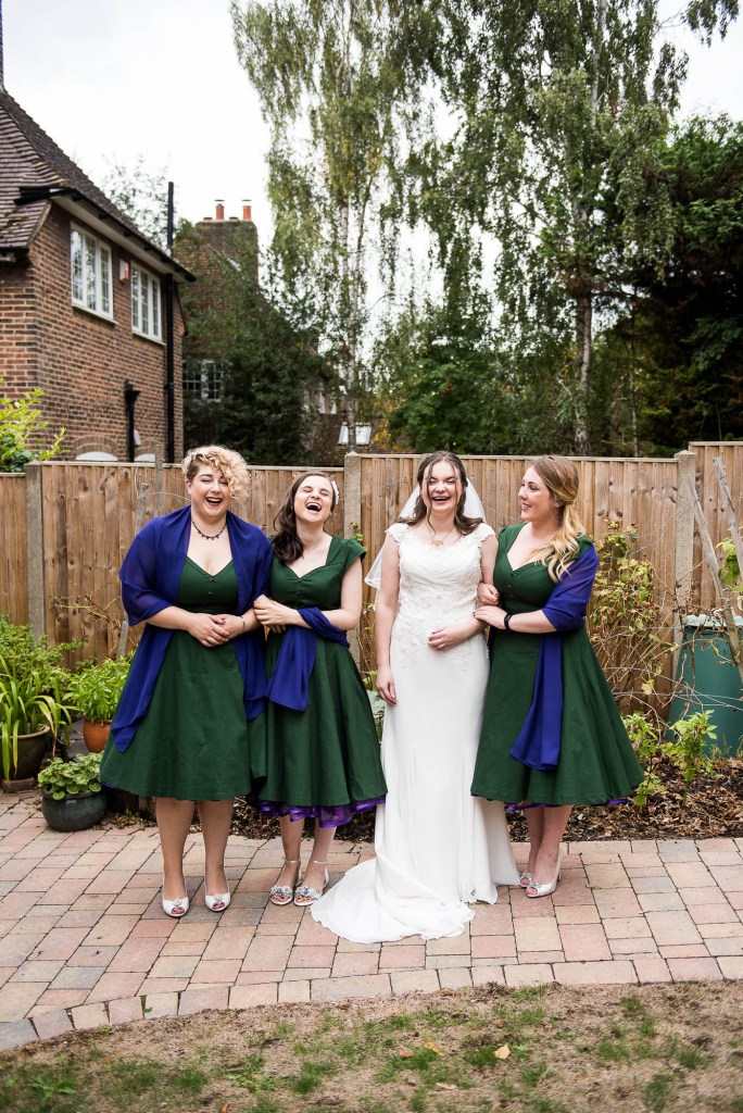 Relaxed and informal bridal party photography