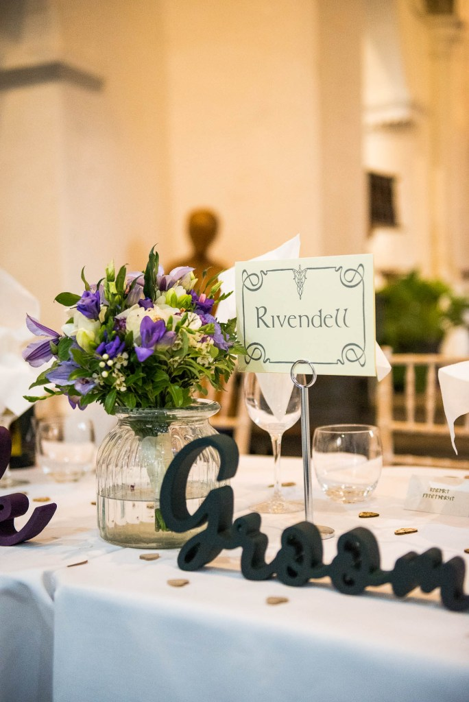 Lord of the Rings themed table setting names