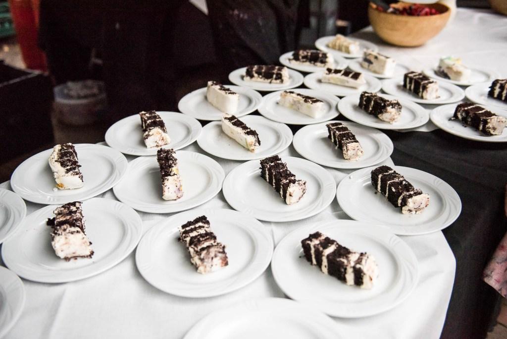 Slices of wedding cake