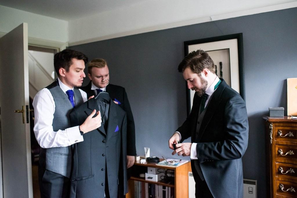 Documentary wedding photographer Surrey - Groom Preparation Photography