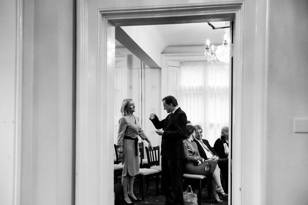 Creative black and white wedding photography Artington House wedding