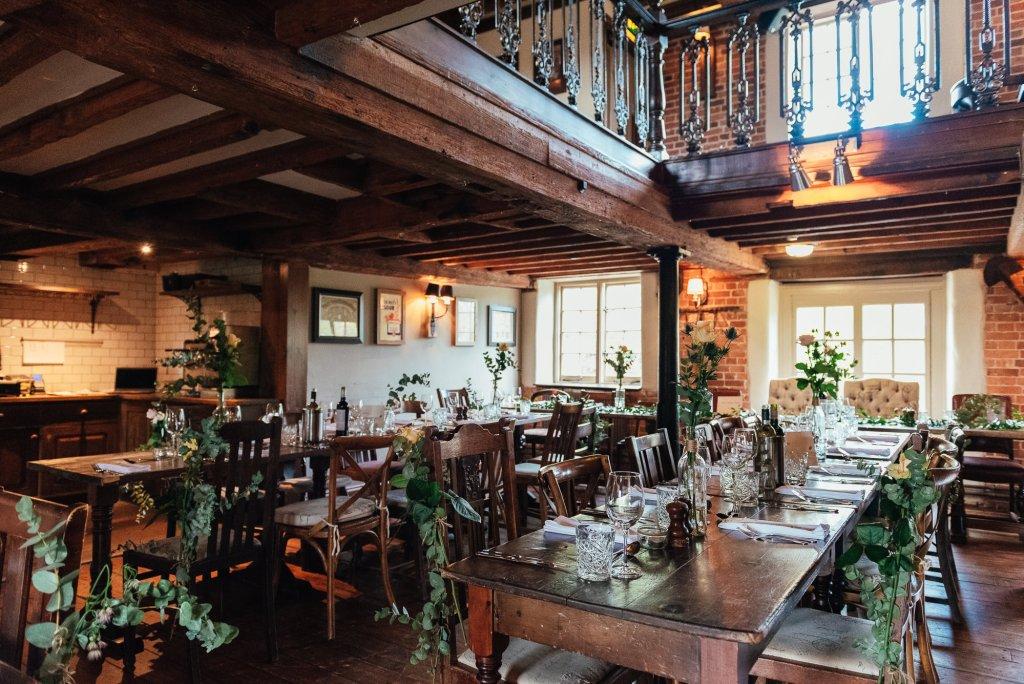The Mill at Elstead wedding breakfast room