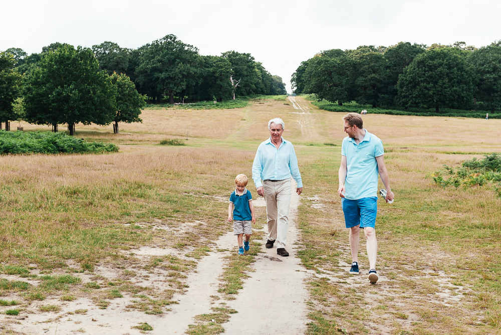 Walk in Richmond Park family shoot