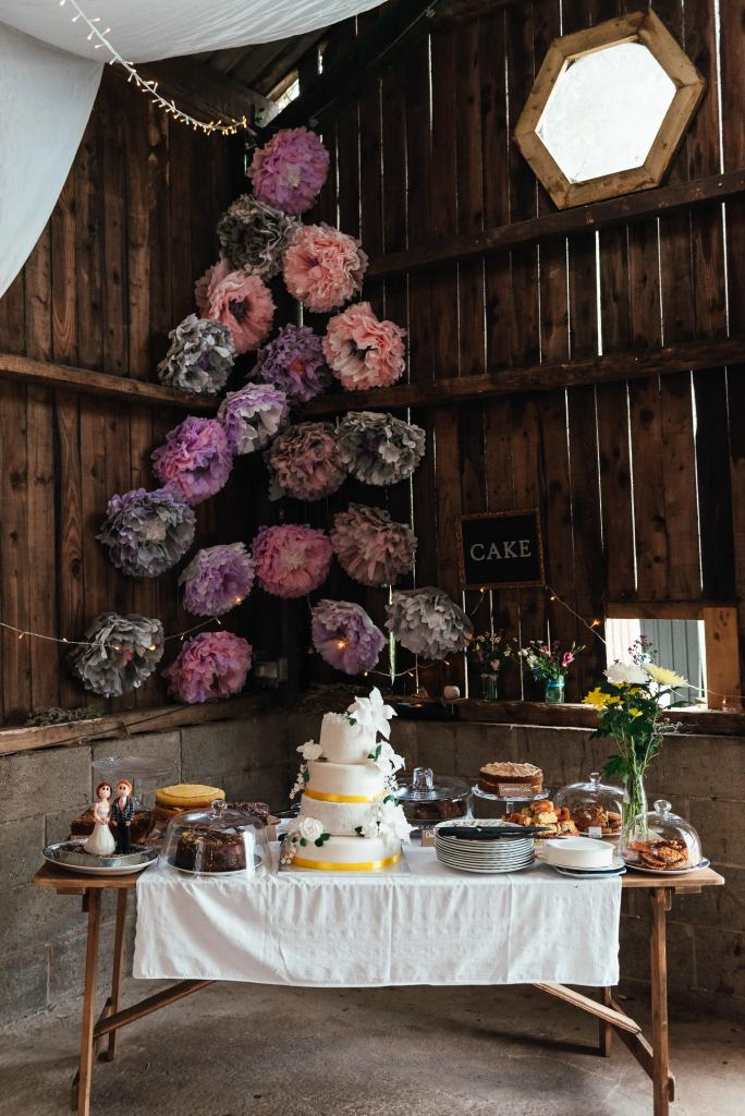 Home made cakes and sweet treats for Deepdale Farm wedding