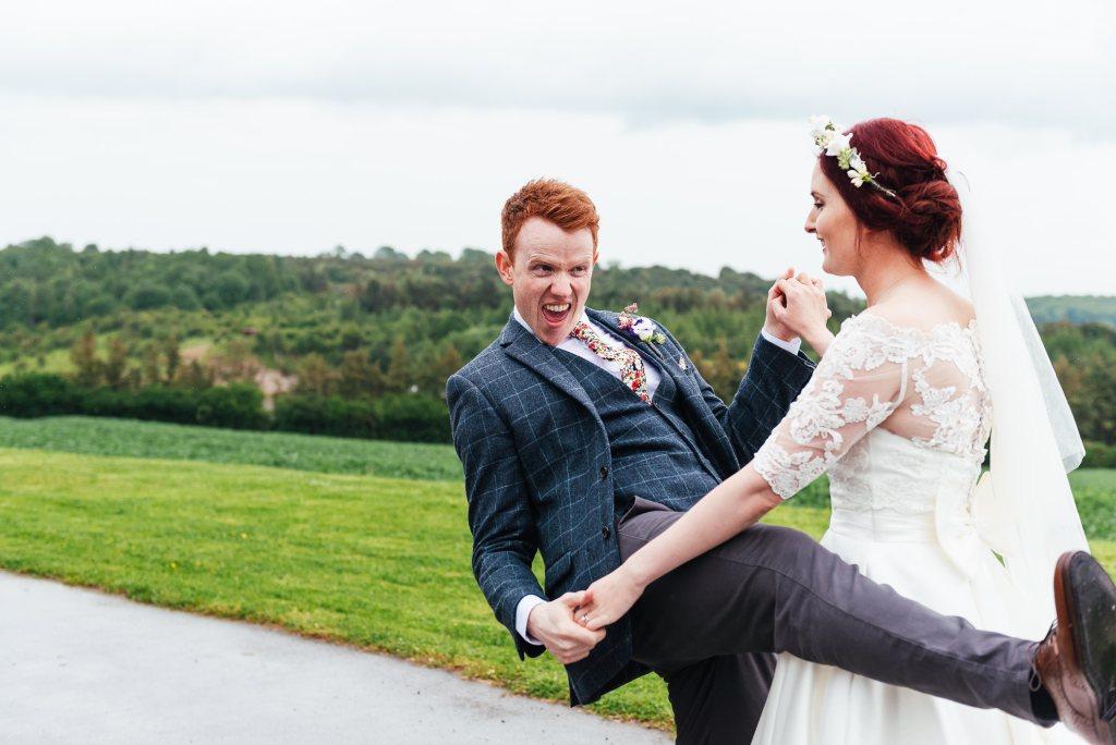 Fun wedding photography