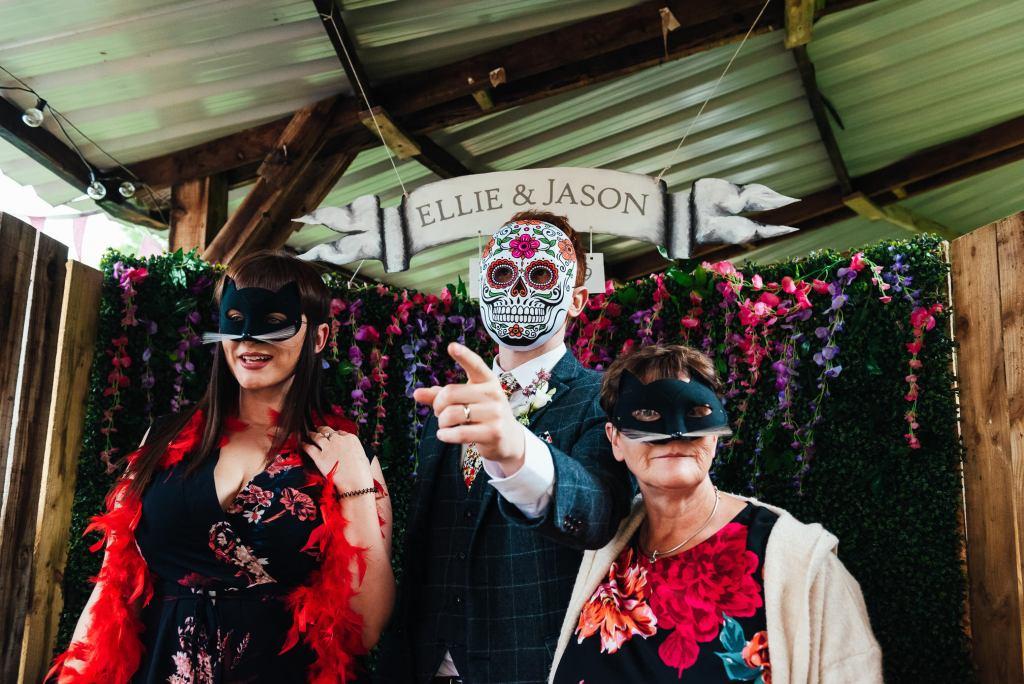 Fun wedding photo booth photography