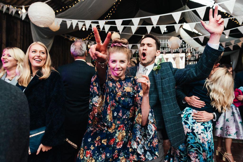 Fun dance floor wedding guests