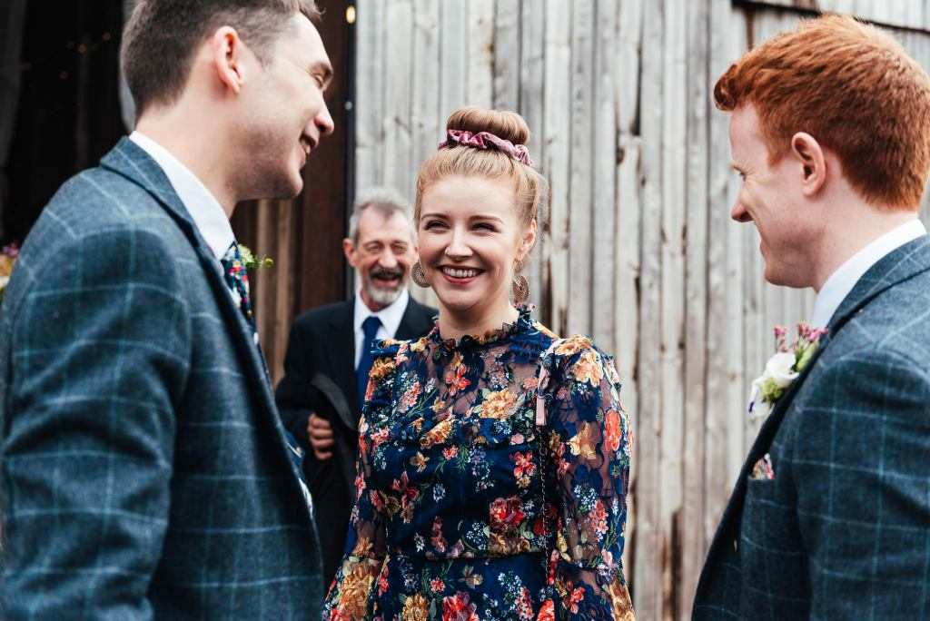 Candid wedding guest photography