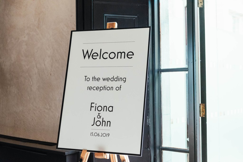 Chic and stylish Welcome sign