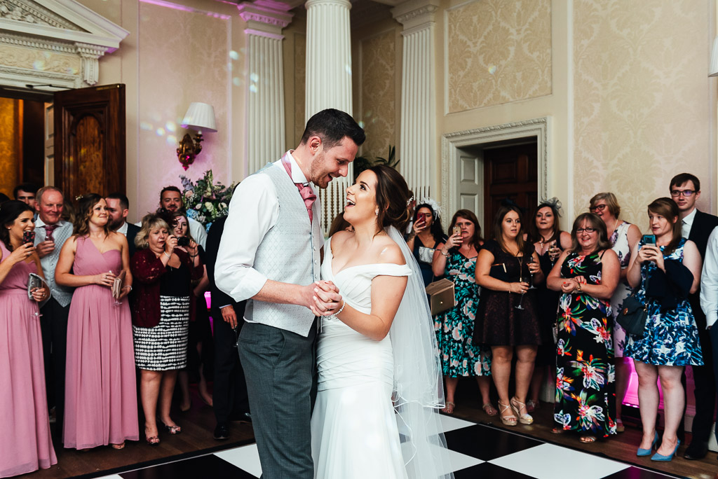 Newlywed couple share their first dance