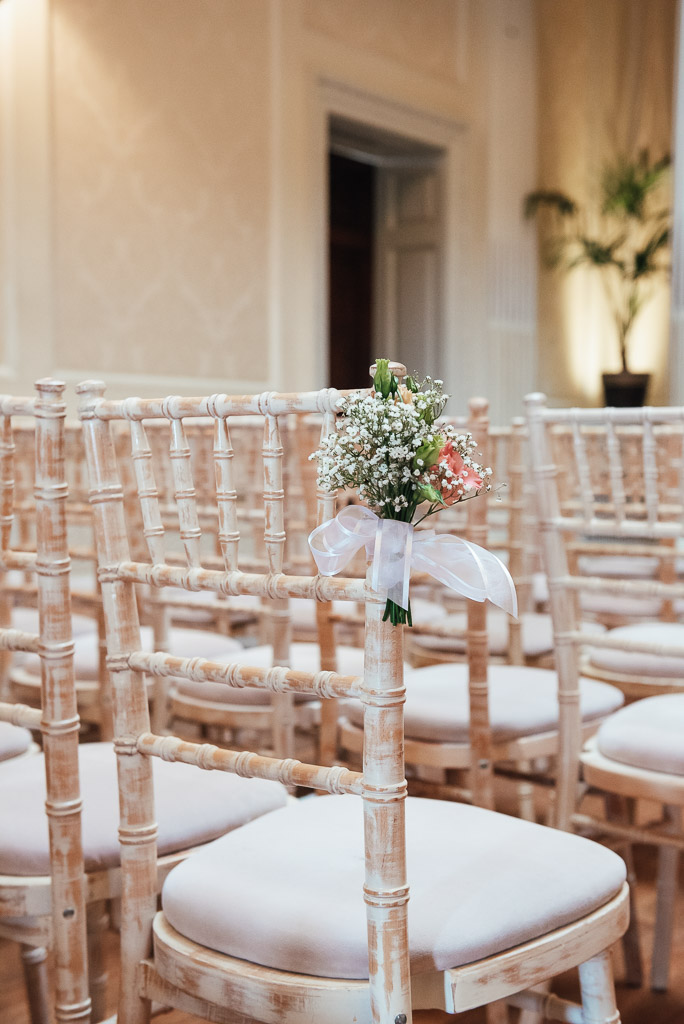 White and pink wedding florals for an elegant Hedsor House wedding