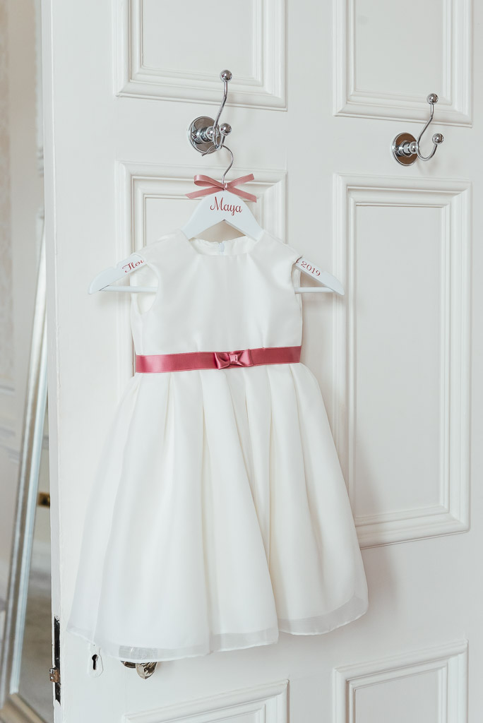 Flower girl dress for a Hedsor House wedding