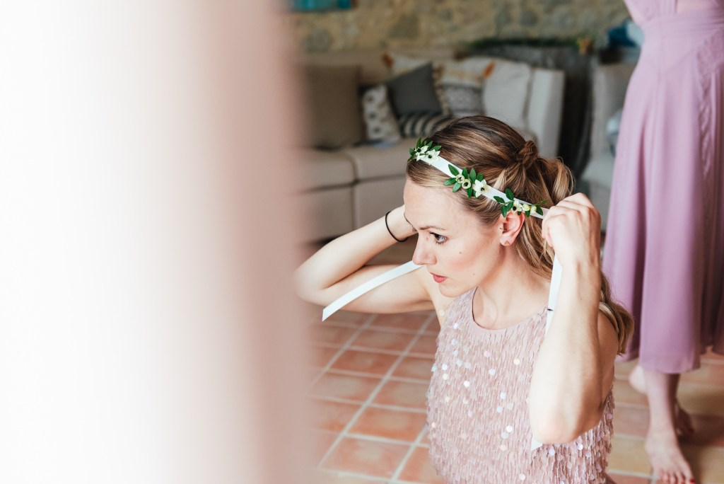 Candid and natural bridesmaid prep photography, destination wedding photography