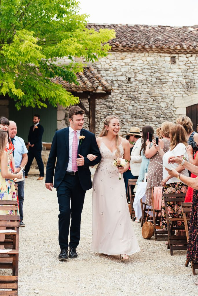Outdoor French courtyard wedding