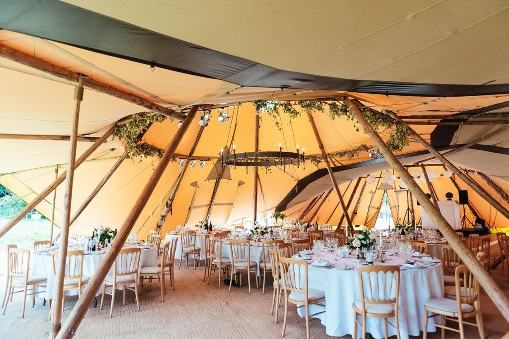 Rustic and classic tipi wedding for outdoor wedding photography in Surrey