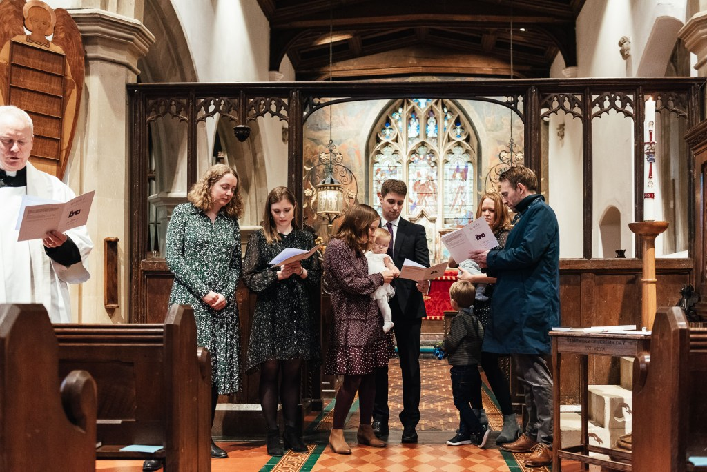 Christening reading for church ceremony