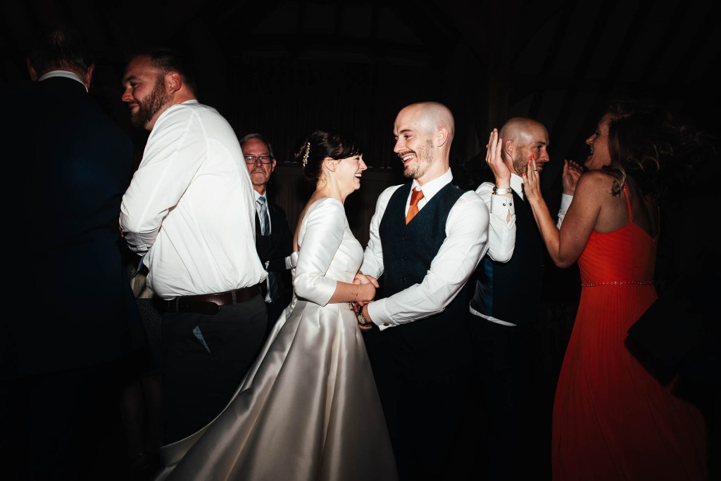 Fun and energetic wedding dance floor photography