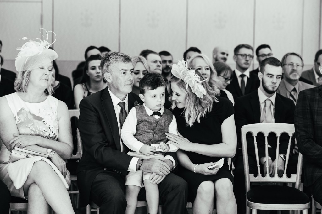 Candid and natural wedding guest reactions