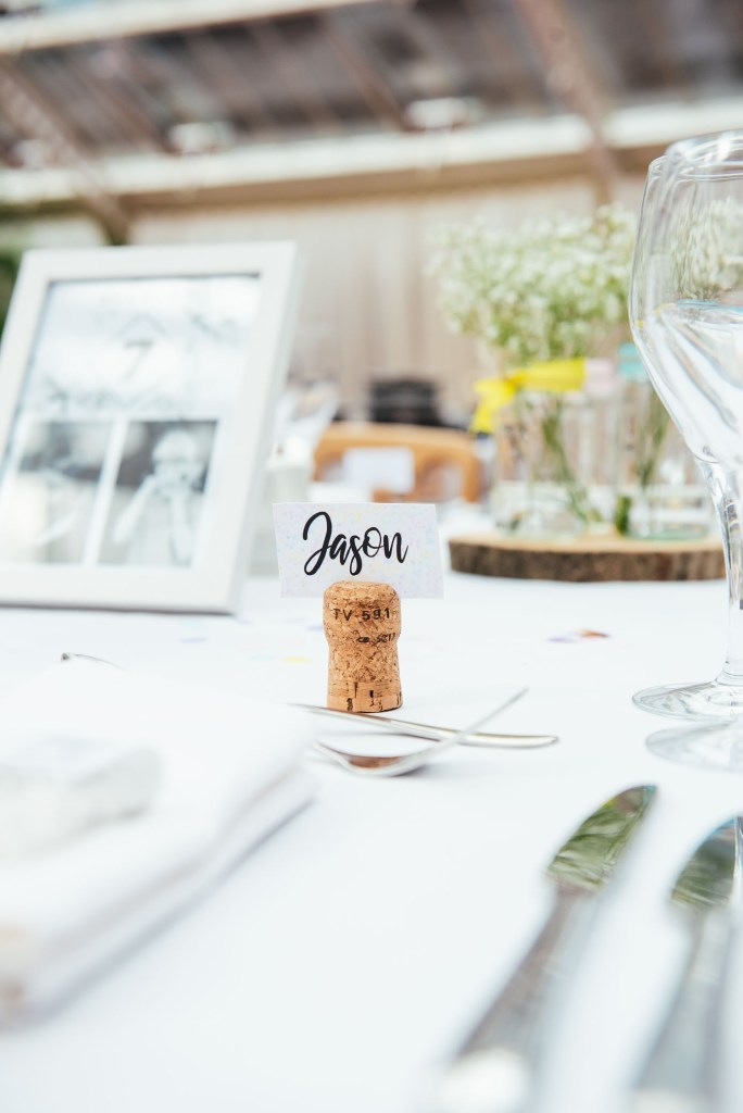 Place names with cork place setting