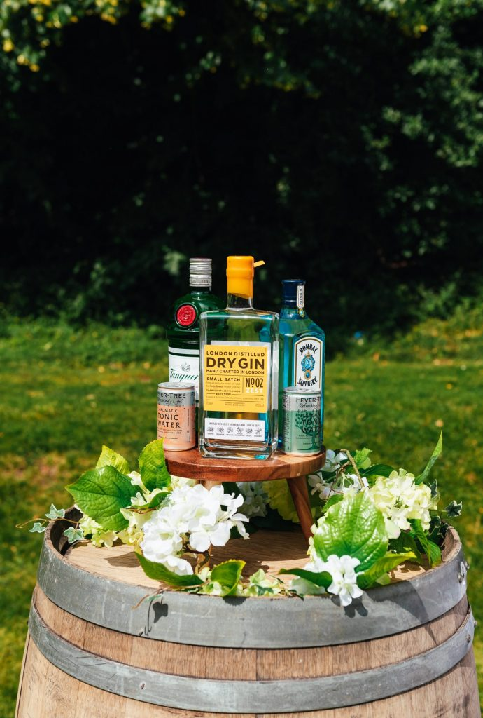Wedding reception drinks details